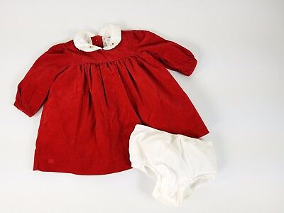 db7d84f77bdf Ralph Lauren infant girl 6 months cordruroy red dress holiday bloomers
