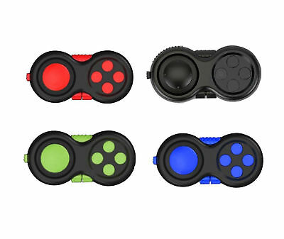 UK Fidget Pad Cube Toy Children Desk Adults Stress Relief Cubes ADHD Color Vary
