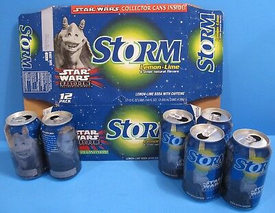 1999 Star Wars Episode I Storm cans and 12-pack case