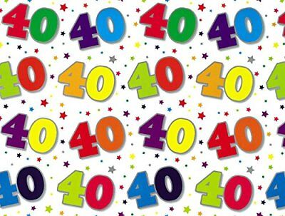 70th Birthday Wrapping Paper Gift Wrap 2 Sheets 1 Matching Tag 70