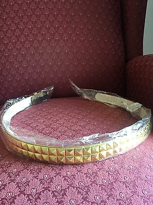 GOLD Girls Pyramid Studded Belt Size M 24-26 Inch New