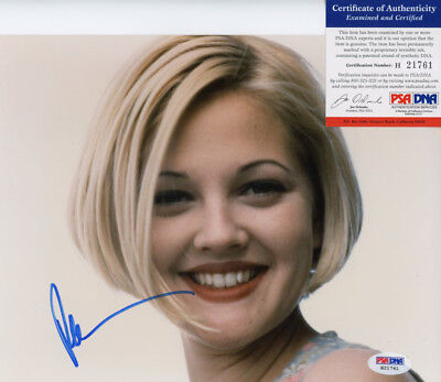 Drew Barrymore Signed 8X10 Color Photo In Person Autographed Psa/Dna H21761