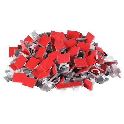 200Pcs Adhesive Cable Clips Wire Clips Wire Holder Cable Clamps Tie Holder G8D7