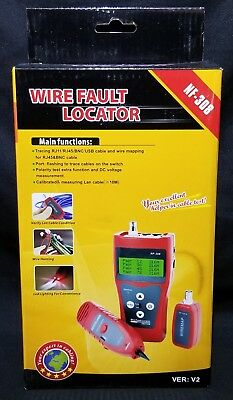 NF-308 Electronic Wire/Cable Fault Locator-Tester-Mapping 30 Day No Fee Returns