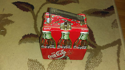 Coca Cola Six Pack Bottles Lunchbox Tin metal 6PK lunch box container coke