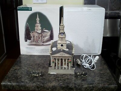 Dept 56 St Martin In The Fields Church With Stone Wall Sections