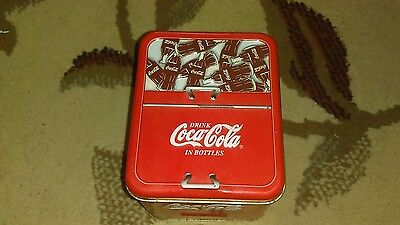Coca Cola 2000 Tin container Cooler tin Drink Coca Cola in bottles ice chest
