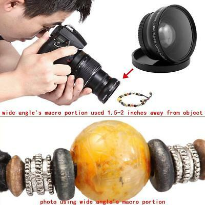 52MM 0.45x Fisheye Wide Angle Macro Lens for Nikon DSLR D3100 D3200 D5200 D5100