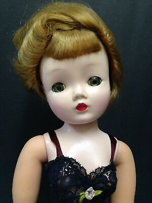 "1950's Madame Alexander 20"" Cissy Doll  in Original Tagged Chemise w/  Shoes !!"