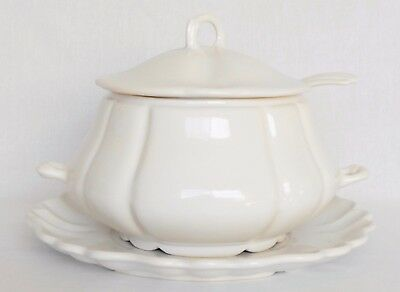 Vintage Cream Colored California Pottery Perfect Soup Tureen from the 1970's