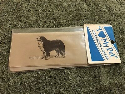 NEW VINTAGE Bernese Mountain Dog CHECKBOOK COVER in Original Wrapping