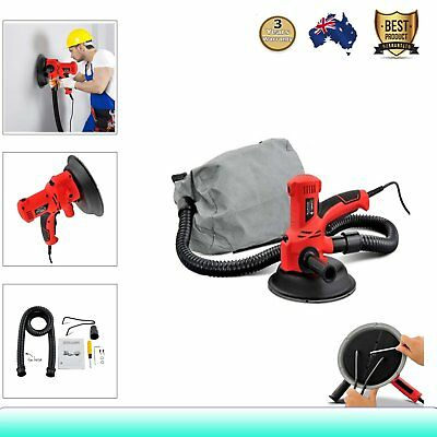 2In1 Handheld Drywall Sander w/ Automatic Vacuum System Gyprock Plaster 6-Speed