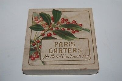 Vintage 1908 A. Stein & Co., Makers Men's Paris Garters Box with Paperwork