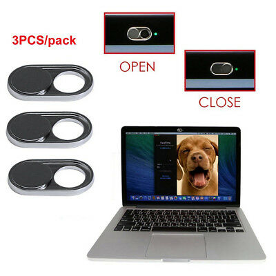 3 Pcs/Set Webcam Cover Slider Camera Shield for Laptop Pad Tablet Phone Privacy