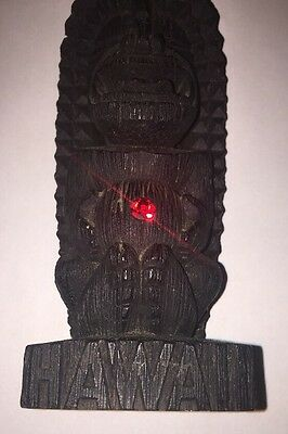 Vintage Tiki Hawaiian Happy God Statue A Hip Original Made In Hawaii 70s Unique