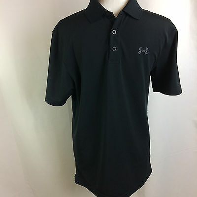 Under Armour Men's Small UA HeatGear Loose Fit Performance Golf Polo Black