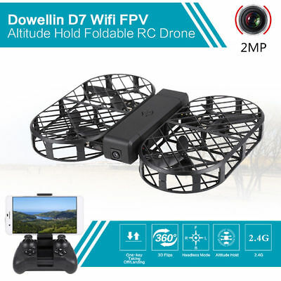 Brand New D7 Wifi 2MP HD Camera Quadcopter Foldable 2.4G 6-Axis Selfie RC Drone