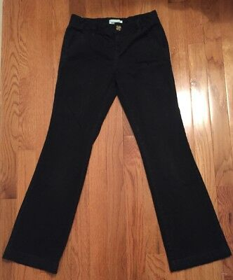 Girls School Uniform Old Navy Black Pants size 10 Regular Adjustable