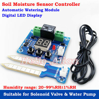 DC12V Soil Humidity Sensor Relay Soil Moisture Controller Automatically Watering