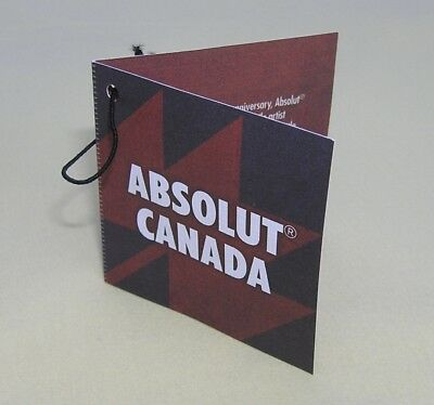 Absolut Vodka * Canada * Limited Edition Neck Tag  * No Bottle * New Necktag