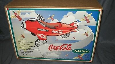 1995 Coca-Cola Die Cast Metal Pedal Plane--Scale 1:3 Signed By Ken Kovach