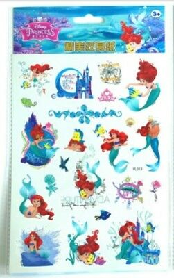 1x Disney The Little Mermaid Temporary Tattoos Girls Ariel Stocking fillers 🎁