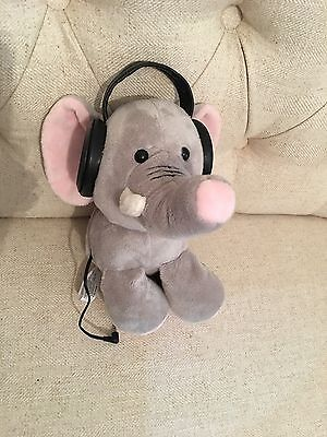 Iflops Music Player MP3 CD iPhone Elephant Plush Autism Calming Special Needs