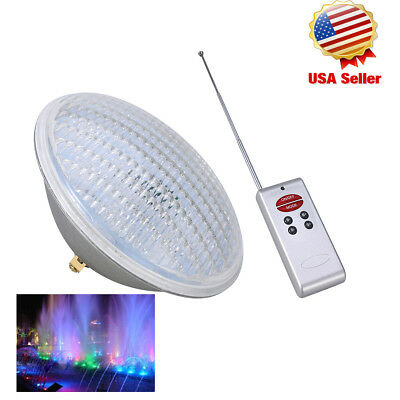 Underwater LED Swimming pool lights PAR56 bulb 12V AC/DC RGB Remoter IP68 New