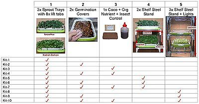 Sprouting Kit Micro-greens Vertical Green Trays