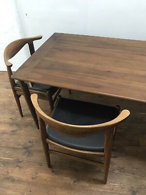 Hans Wegner Inspired Table And Chairs Mid Century Modern Scandinavian