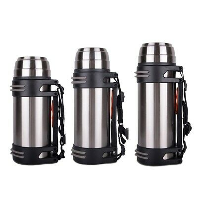 1.2L Stainless Steel Vacuum Thermos Insulated Travel Flask Hot Tea Coffee Bottle