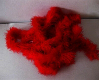 Red feather boa 2 METERS party/showergirl/Wedding decoration