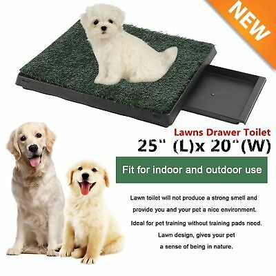 Pet Potty Trainer Grass Mat Dog Puppy Training Pee Patch Pad Indoor Outdoor HT