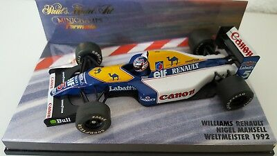 Minichamps  1:43  Formel 1  N.mansell  Williams  Fw 14  World Champion  1992