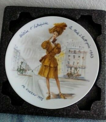 Henri D'Arceau Limoges France Women of the Century Collector Plate 1943