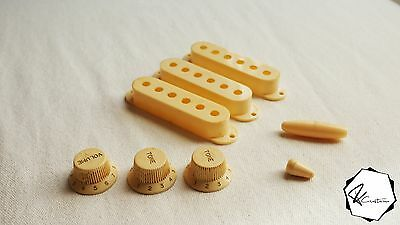 Aged Creme Pickup Cover Knobs Switch Set for Strat Stratocaster Relic Fcustom
