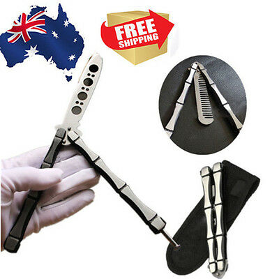 COOL Practice No Screws Balisong Butterfly Dull Knife Comb Trainer Training Tool