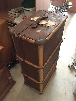 Vintage Suitcase Steamer Trunk