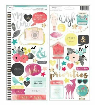 DEAR LIZZY - Gold Foiled Accent Stickers