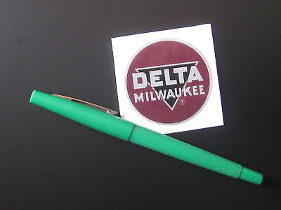 """2"""" DELTA MILWAUKEE DECAL- for vintage Delta machinery - badge, nameplate, tag"""