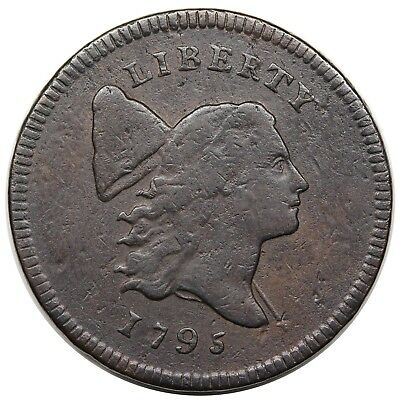 1795 Liberty Cap Half Cent, Lettered Edge, C-1, VF detail