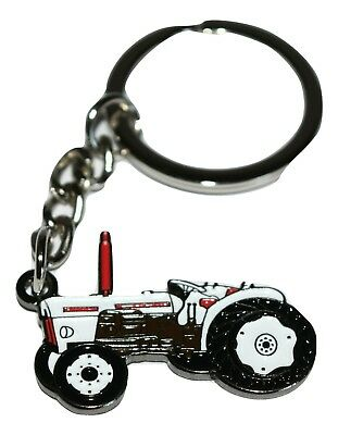 David Brown Tractor Keyring Gift Idea Farming Enamel & Metal Keychain NEW!