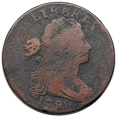1796 Draped Bust Large Cent, Reverse of '95, rare S-116, R.5, G-VG detail