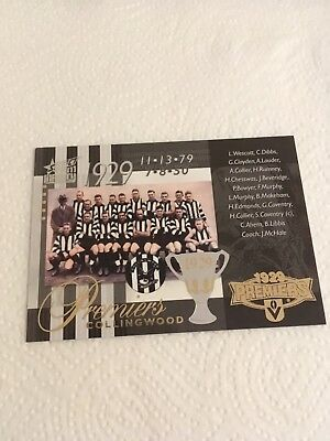 2011 AFL Select Infinity Premiership Commemorative Card - PC69 - Collingwood