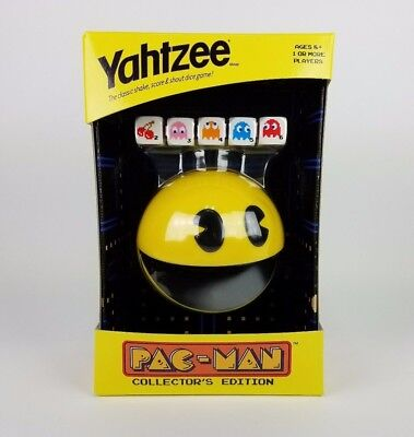 Yahtzee PAC-MAN GAME Collector's Edition w/ Collectible Dice & Cup ~ New-In-Box!