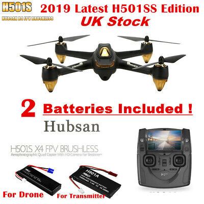 Hubsan H501S X4 FPV Drone Brushless RC Quadcopter 1080P HD Follow Me RTH GPS, UK