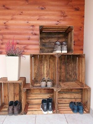 2,3,4,6 or 12 wooden crates fruit apple boxes vintage home decor Cleaned!