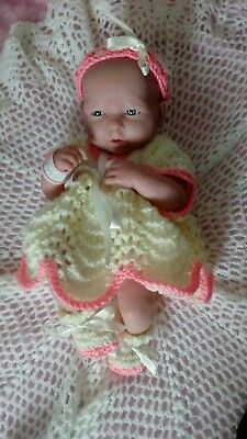 Berenguer la newborn baby girl doll in beautiful hand knitted clothes life-like