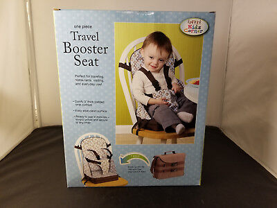 NIB Kids Corner One Piece Travel Booster Seat Blue Espresso Color Brand New
