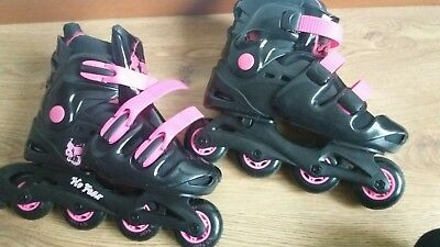 No fear inline skates Removable sock Adjustable size 5-8 Used